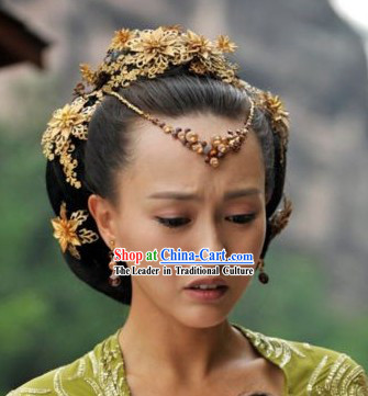 Traditional Ancient Chinese Swordwoman Hair Accessories Complete Set