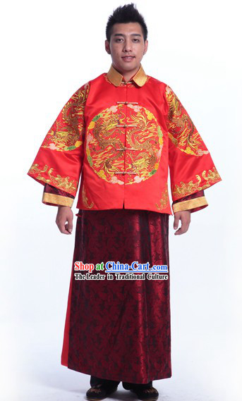 Traditional Chinese Wedding Dresses Attires for Bridegroom