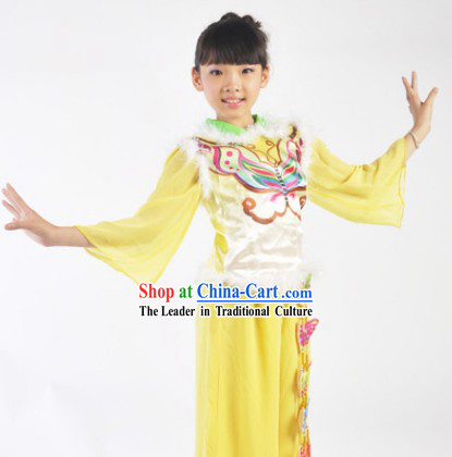 Butterfly Dance Costumes and Apparel Complete Set for Female Kids