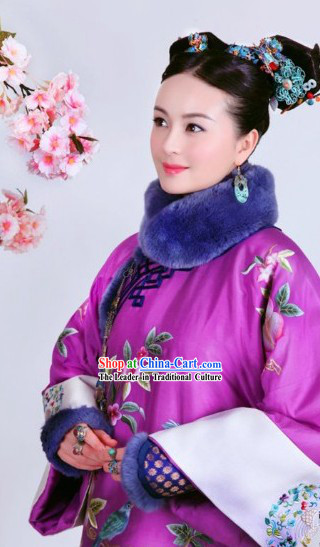Qing Dynasty Imperial Palace Princess Outfit for Women