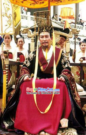Tang Dynasty Emperor Clothing and Crown for Men