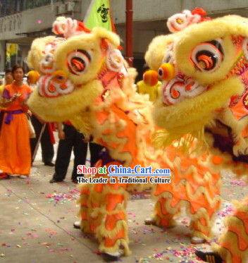 Lovely HOK SAN Supreme Lion Dance Costumes Complete Set