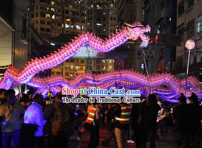 Supreme New Year Celebration Parade Fluorescent Dragon Dance Costume Complete Set