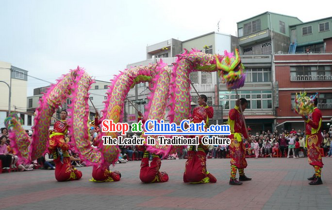 Supreme New Year Celebration Parade Fluorescent Dragon Dance Equipment Complete Set