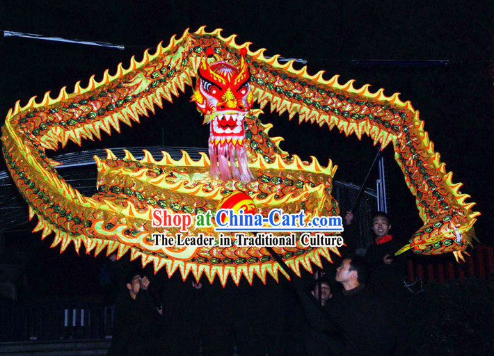 Professional Competition Luminous Dragon Dance Costume Complete Set for 7-8 Adults