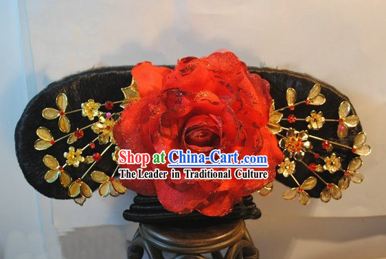 Qing Dynasty Chinese Palace Princess Manchu Wig for Women