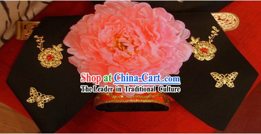 Qing Dynasty Chinese Palace Princess Manchu Hat for Women