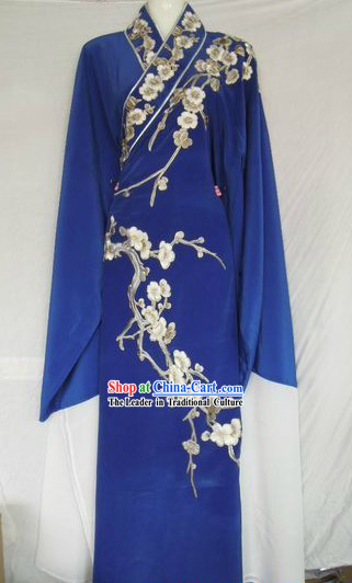Ancient Chinese Embroidered Plum Blossom Young Men Long Robe