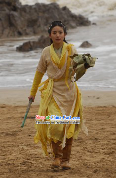 Legend of the Condor Heroes Huang Rong Costumes Complete Set