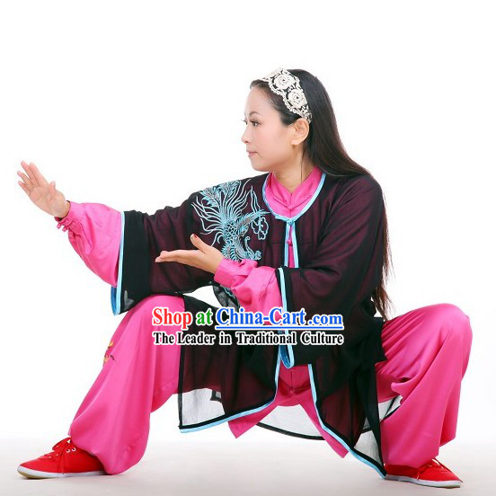 Traditional Chinese Tai Chi and Kung Fu Competition Uniform and Cape for Women