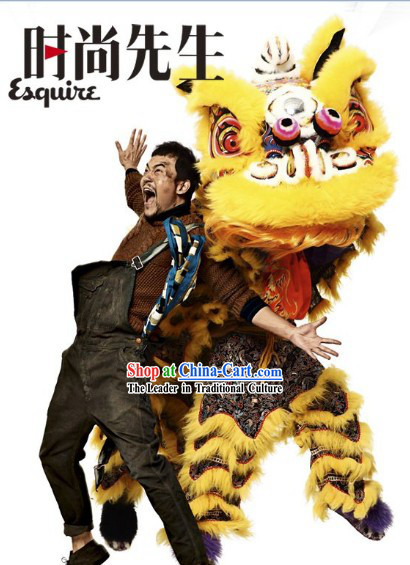 Golden Dragon Fabric Magazine Advertising Lion Dance Costumes Complete Set