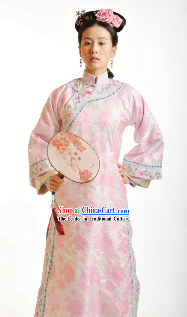 Bu Bu Jing Xin Liu Shi Shi Cecilia Qing Imperial Nobility Clothes and Fan