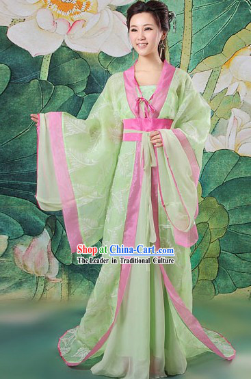 Ancient Chinese Light Green Lover Costumes for Women