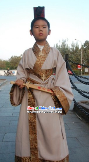 Traditional Clothing and Helmet of the Han Chinese Kids