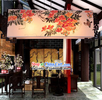 Classical Hand Painted Chinese Traditional Painting Hanging Lantern