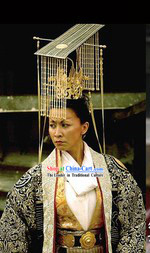 Tang Dynasty Female Emperor Wu Zetian Coronation Crown