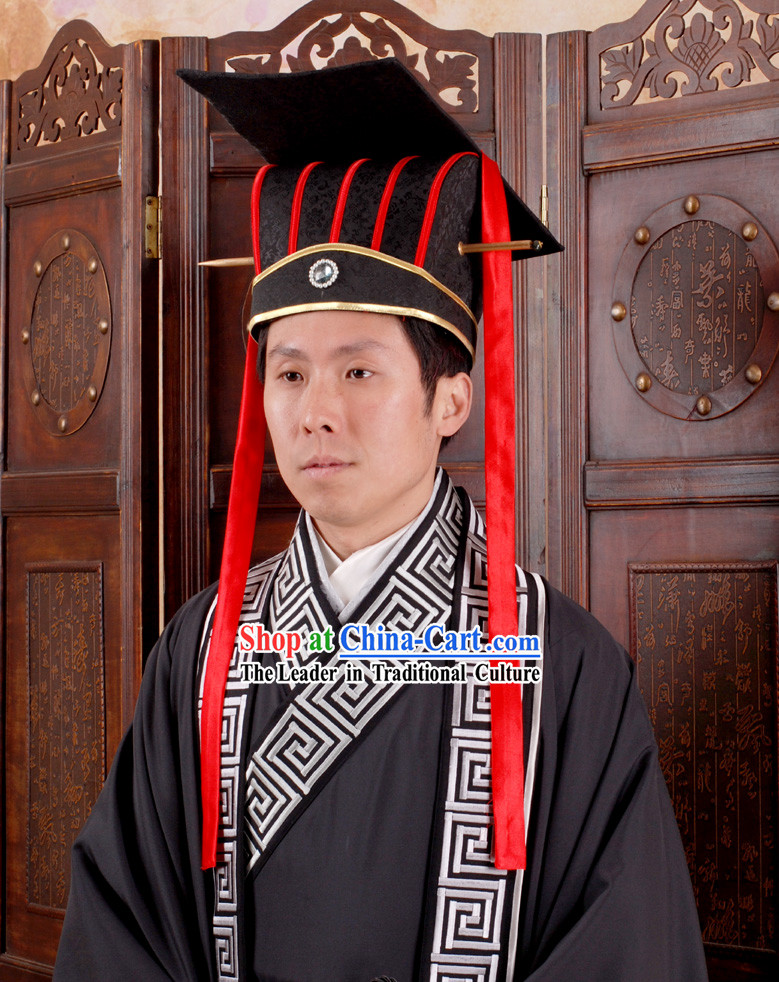 Ancient Chinese Han Dynasty Emperor Enthronement Hat Crown