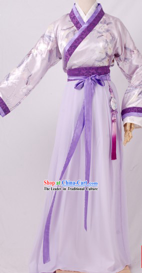 Ancient Chinese Han Dynasty Garment Clothing Complete Set