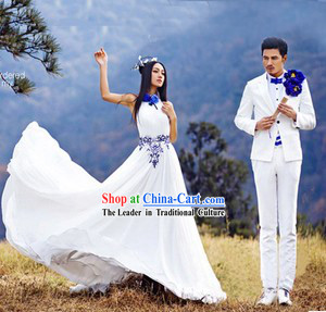 Photography Studio Use Wedding Dresses Clothing for Men and Women
