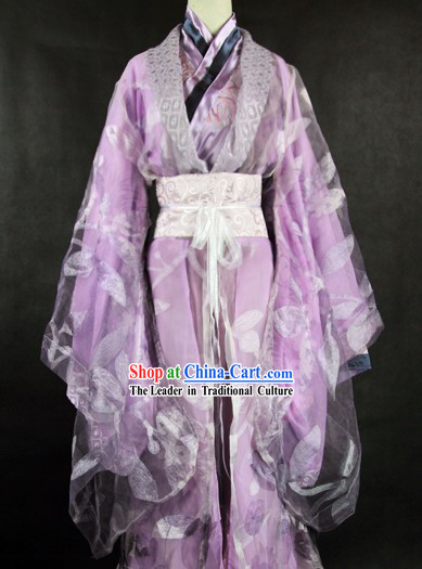 Ancient Chinese Purple Princess Cosplay Robes for Women