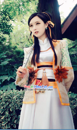 Ancient Chinese Heroine Swordswoman Costumes and Headpieces
