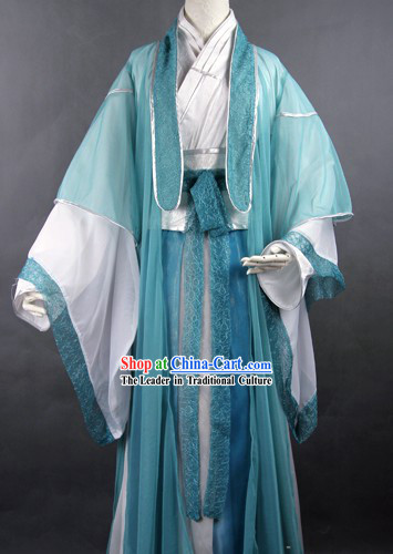Traditional Ancient Chinese Swordsman Costume Complete Set for Men