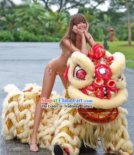 TV and Film Professional Performance and Parade Lion Dance Costume Complete Set