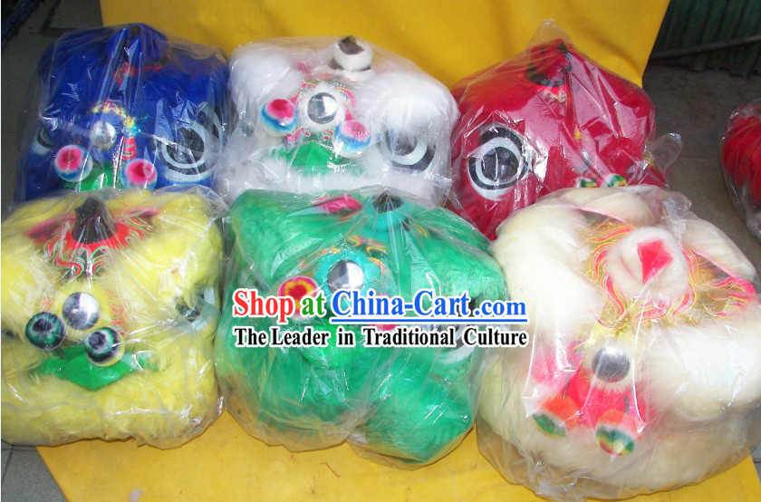 Six Sets Chinese New Year Parade Children Size Lion Dance Costumes
