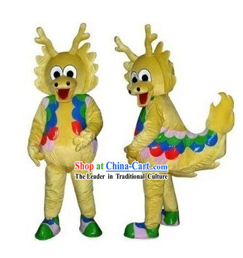 Traditional Chinese Dragon King Character Adult Size Walking Mascot Costume Complete Set