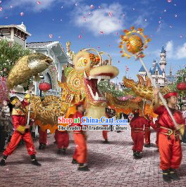 Supreme Best Traditional Grand Opening Chinese Dragon Dance Costumes Full Set