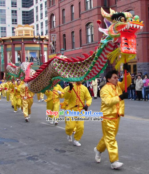 Traditional Chinese Dragon Dance Equipment Full Set