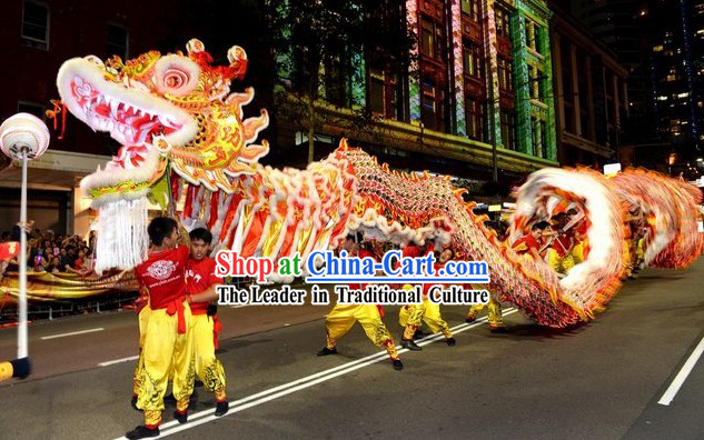 Best Supreme Classic Chinese Handmade Dragon Dance Costumes Complete Set