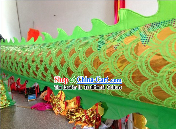 Traditional Chinese Green Dragon Dance Costumes Complete Set