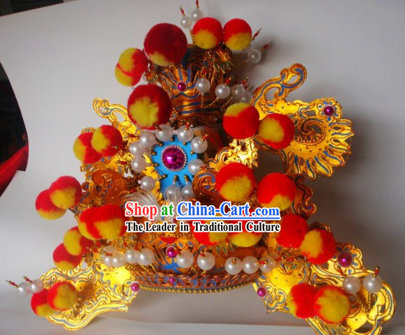 Traditional Chinese Peking Beijing Opera Hat Headgear for Men