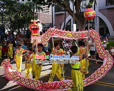 Professional Competition and Performance Ultraviolet College Dragon Dance Costumes Complete Set
