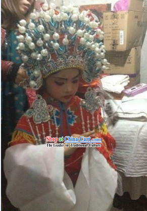 Traditional Chinese Beijing Opera Phoenix Crown for Children