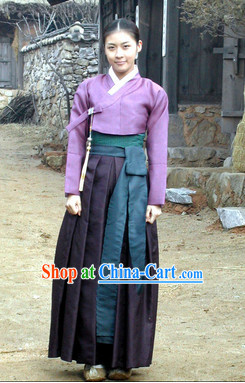Ancient Korean Female Hanbok Clothing Complete Set