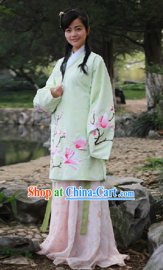 Traditional Chinese Ming Dynasty Clothing Complete Set for Women
