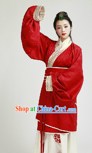 Chinese Classical Han Dynasty Garment Complete Set