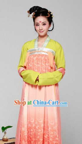 Chinese Classical Guzhuang Female Garment Complete Set