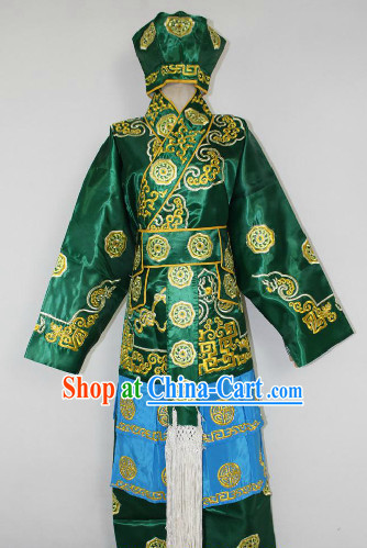 Chinese Ancient Wusheng Costumes and Hat Complete Set