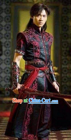 Li Yifeng Asian Swordman Costumes and Cuff Complete Set