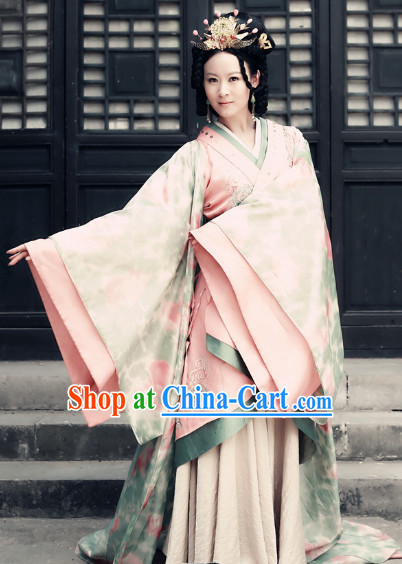 Ancient China Princess Pink Clothes Full Set