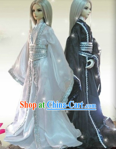 Black and White Hanfu Clothing 2 Complete Sets for Brothers
