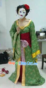 Gong Sun Ling Long Ancient Smart Women Costumes and Mask