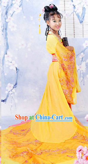 Ancient Chinese Tang Princess Outfits Complete Set for Kids