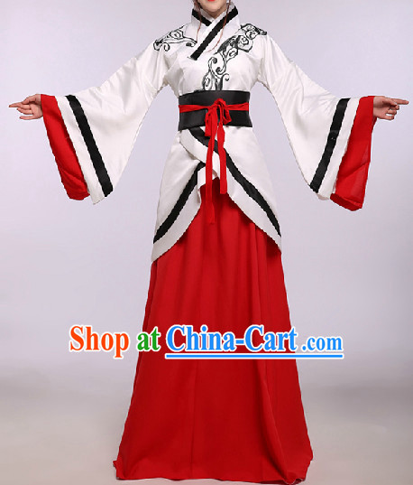 Ancient Chinese National Folk Costumes for Ladies