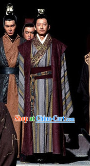 Chinese Emperor Traditional Dresses and Crown Complete Set