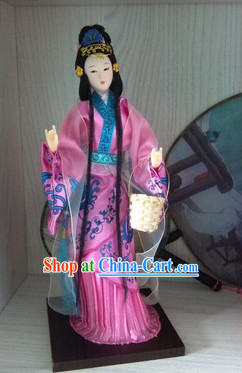 Handmade Beijing Silk Figurine Doll - Ancient Chinese Beauty 1