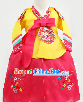 Korean Traditional Hanbok for School Students from 1 Year Old to 15 Years Old
